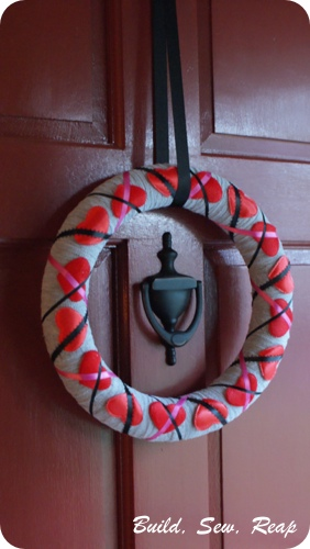 Build, Sew, Reap - Valentine's Day Wreath