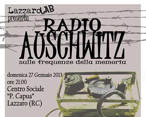 """""""Radio Auschwitz: sulle frequenze della memoria"""" (Reggio Calabria)"""