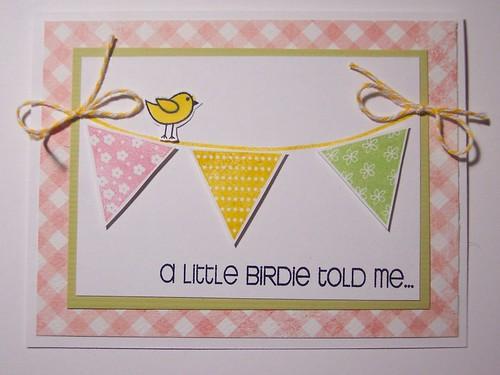 Birdie Banner Card