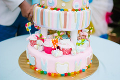 buttercream(0.0), cake(1.0), party(1.0), baby shower(1.0), sugar paste(1.0), food(1.0), cake decorating(1.0), icing(1.0), birthday cake(1.0), pasteles(1.0), wedding cake(1.0), pink(1.0),