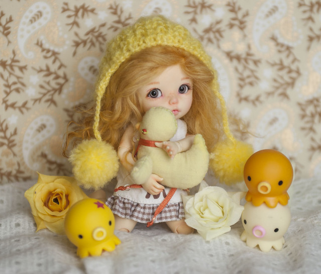 A Doll a day - Monday - Yellow