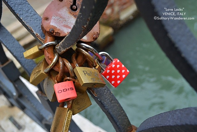 Love padlocks in Venice
