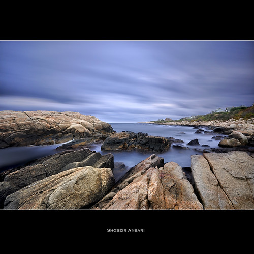 ocean longexposure ri seascape rock sunrise coast wideangle rhodeisland shore coastline narragansett rockformation sigma1020 nd110 shobeiransari