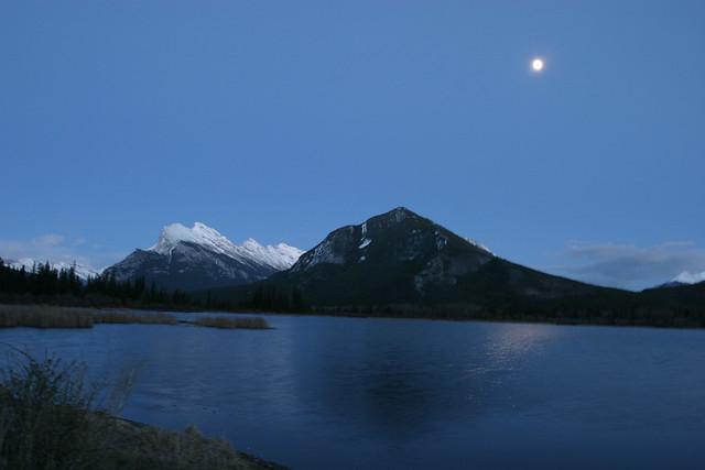 Vermillion Lakes at night 1