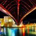 Night Bridge In Venice by Stuck in Customs