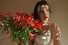[フリー画像素材] 人物, 女性, 人物 - 花・植物 ID:201210170800