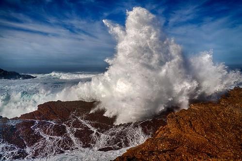 ocean california winter seascape beach canon landscape eos monterey surf pacific tide wave shore swell hdr breaker carmelhighlands pointlobosstatereserve 50d niksoftware copyrightmarkldodge
