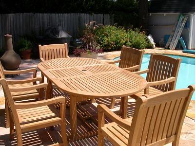 Outdoor Teak Dining Set By Atlanta Teak Furniture