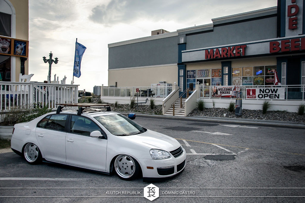white mk5 jetta gli at h2oI 2012 3pc wheels static airride low slammed coilovers stance stanced hellaflush poke tuck negative postive camber fitment fitted tire stretch laid out hard parked seen on klutch republik