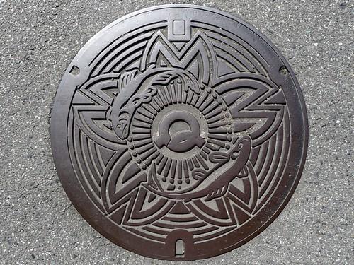 Yoshino Nara manhole cover (奈良県吉野町のマンホール)