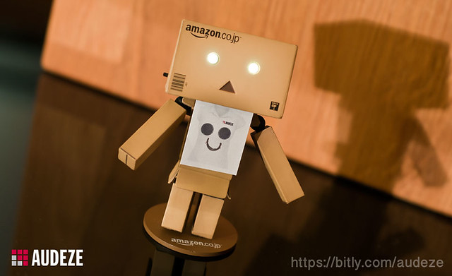 Danbo is model for the new Audeze T-Shirt