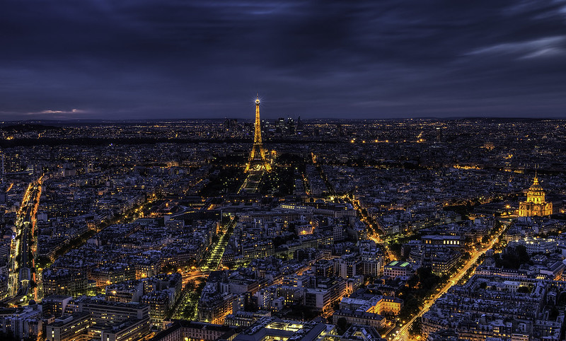 Paris, France Nightscape