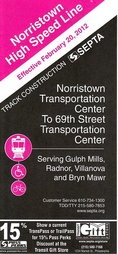SEPTA Norristown High Speed 2012 Cover