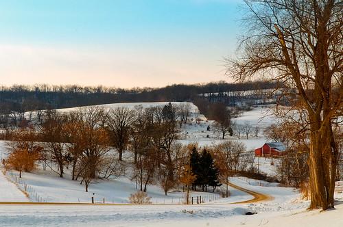 sunset rurallife clearandcold winterfarm southwestwisconsin townroad wisconsinwinterscene moscowntownship