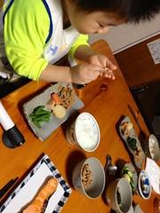 朝御飯 (2012/10/15)