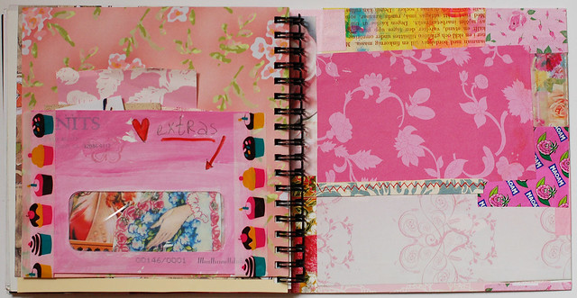 Pink Smart Journal with pocket for extras