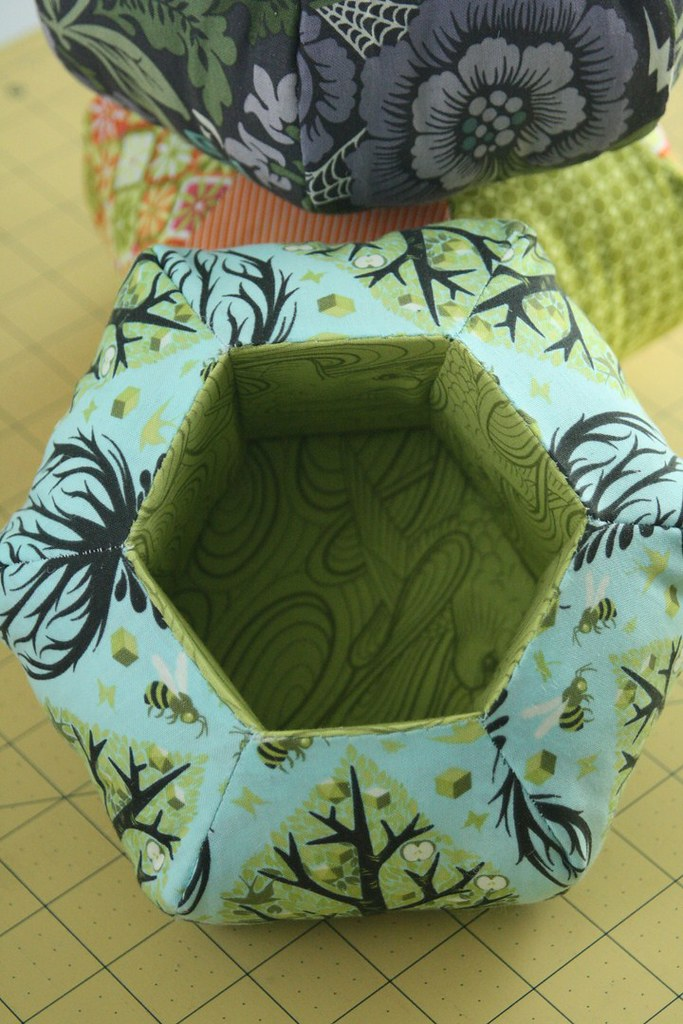 Hexie Caddy made from tutorial at Penny's Hands