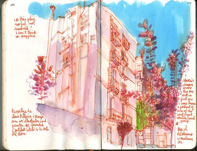 37th Sketchcrawl. Passatge Lluís Pellicer.