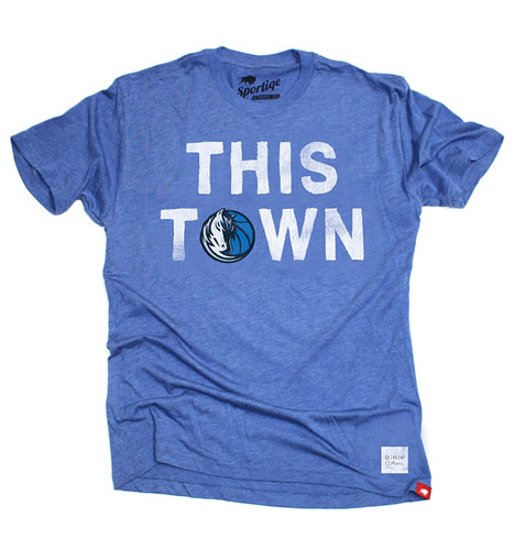 Dallas Mavericks This Town T Shirt By Sportiqe Apparel (OAR Collective)