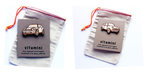 MiniCooper Lasercut pins and magnets