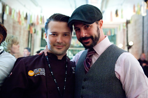 Chefs Bob Truitt (left) and Johnny Iuzzini