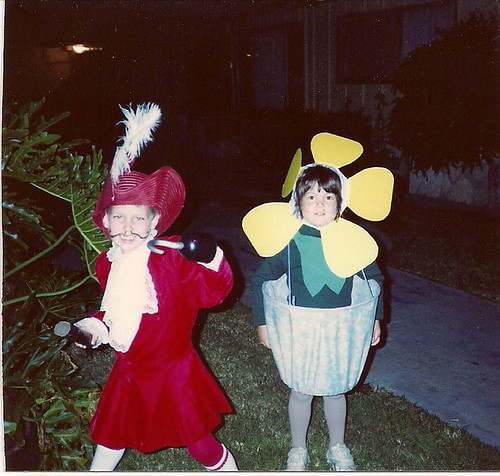1990 flower pot and captain hook costume