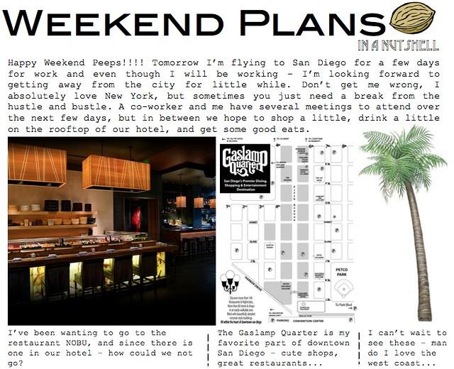 weekend plans 10.19.12