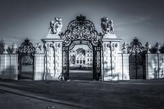 belvedere castle, main entrance, vienna, austria