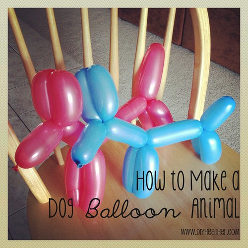 Balloon Animal Dogs by Heather Says