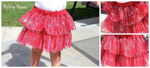MWM Red 2 tier Halloween Skirt Oct 2012 6