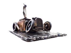 Hot Rod Monster Shifter metal sculpture