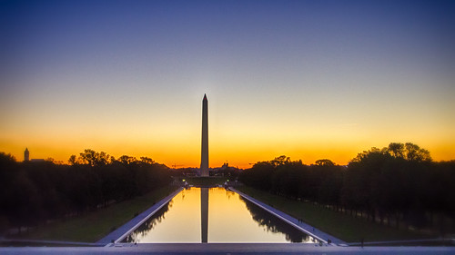 Sunrise view from the Lincoln Memorial, Washington, DC
