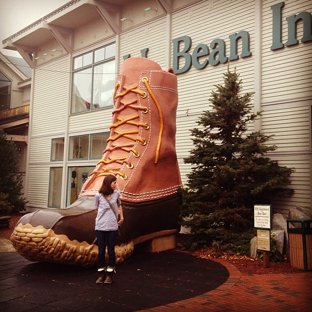 We dropped a small fortune but we are set for winters for life. @llbean