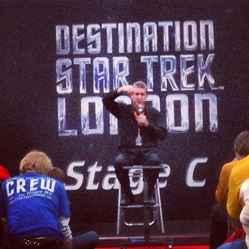 Richard Arnold!  #startrek #trek #tos #tng #ds9 #voyager #enterprise #excel #london #dstl #destinationstartreklondon