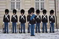 Royal guards with winter uniform
