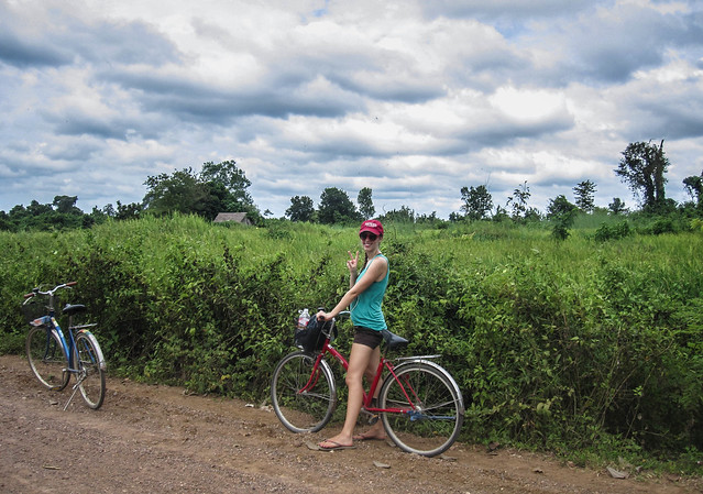 Biking in Kratie, Cambodia