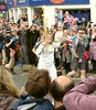 The olympic flame in Stratford-upon-Avon