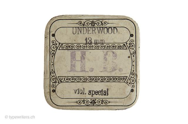 Farbbanddose Underwood