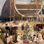 Shipyard Society, 1916, George Bellows