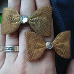 mesh bow rings from Forever 21