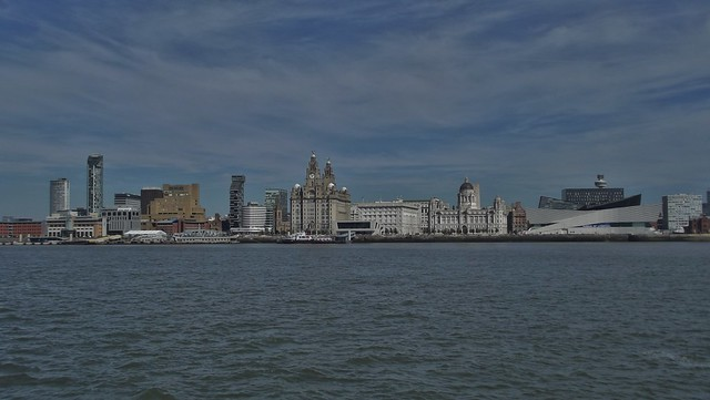 The City of Liverpool in Merseyside, England - September 2012