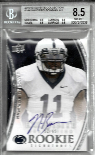 2010 Exquisite Collection #144 NaVorro Bowman AU RC (52 of 65) BGS 8.5