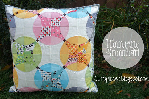 Flowering Snowball - Pillow Complete!