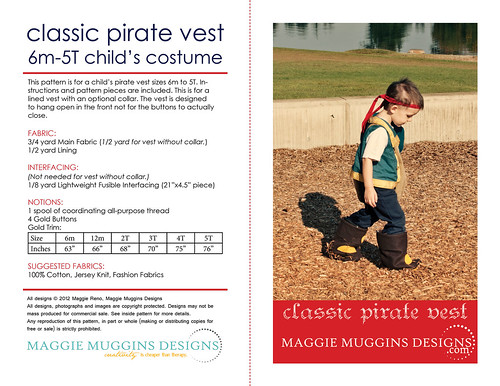 Easy Pirate Vest Pattern