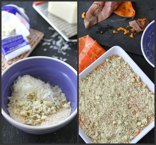 Mashed Sweet Potato Recipe with Blue Cheese Breadcrumbs by Cookin' Canuck
