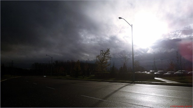 Hurricane Sandy Mississauga clouds, Day two : Hurricane Sandy