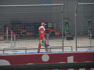 Massa walking back after race