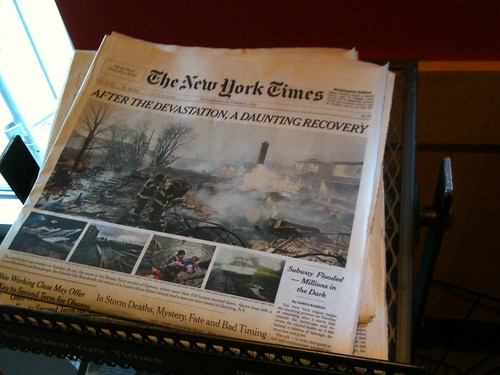 NYT Headline post-Sandy