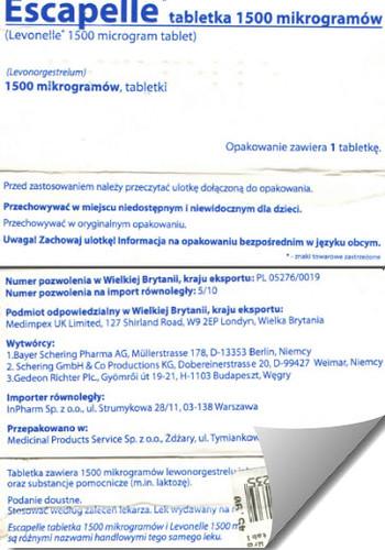 Escapelle tabletka 72 po Wrocław