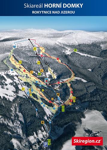 Rokytnice nad Jizerou - mapa sjezdovek